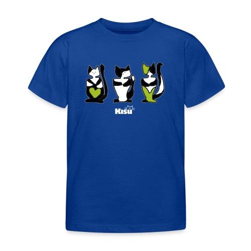 vihreä rivi mustalle - Lasten t-paita
