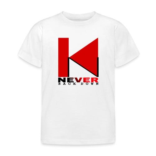 NEVER BACK DOWN - T-shirt Enfant