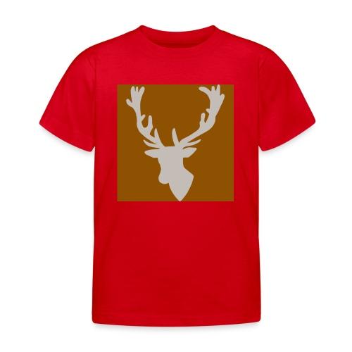 Hirch B BROWN WHITE - Kinder T-Shirt