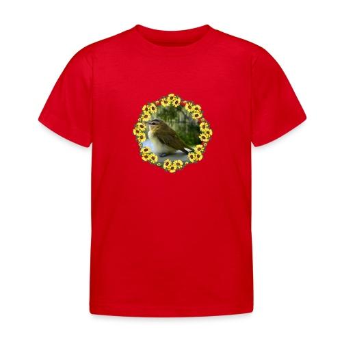 Vögelchen im Blumenkranz - Kinder T-Shirt