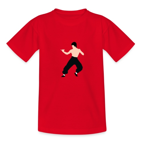 Bruce lee Kampf Pose - Kinder T-Shirt