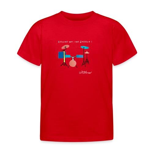 Azia Drum White - Kids' T-Shirt