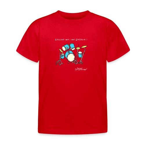 Luigi Drum White - Kids' T-Shirt