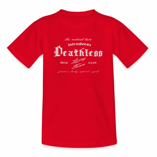deathless living team grau - Kinder T-Shirt
