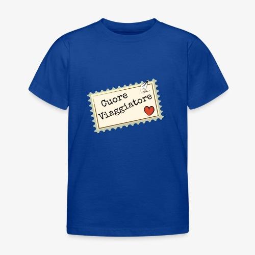 CUORE VIAGGIATORE Scritta con aeroplanino e cuore - Maglietta per bambini