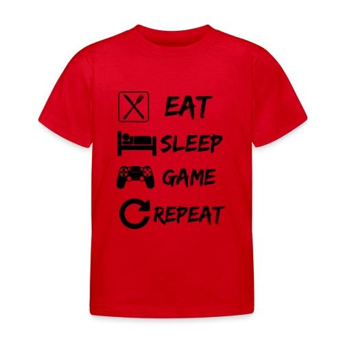 Eat_Sleep_Game_Repeat - Camiseta niño