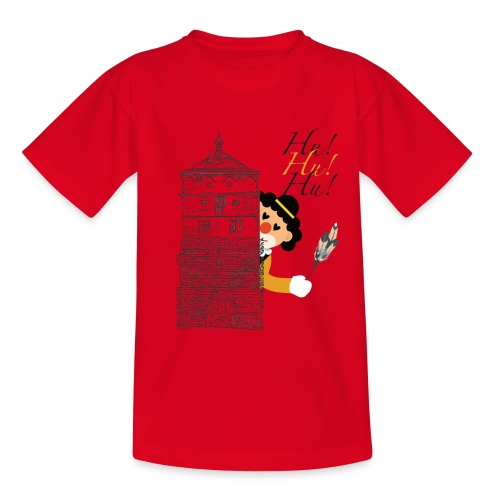 Hu! Hu! Hu! Schwarzgelber Clown am Schwarzen Tor - Kinder T-Shirt