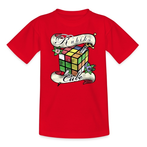 Rubik's Cube Tatoo - T-shirt barn