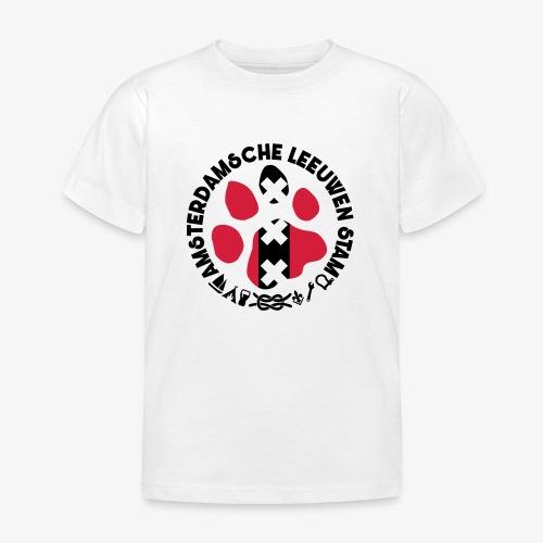 ALS witte cirkel lichtshi - Kinderen T-shirt