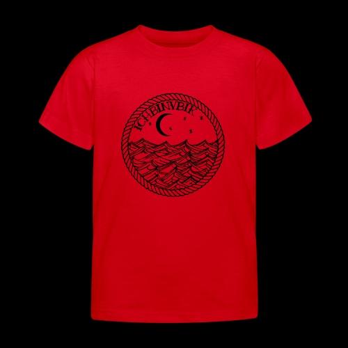IBV Die Lichter das Meer black - Kinder T-Shirt