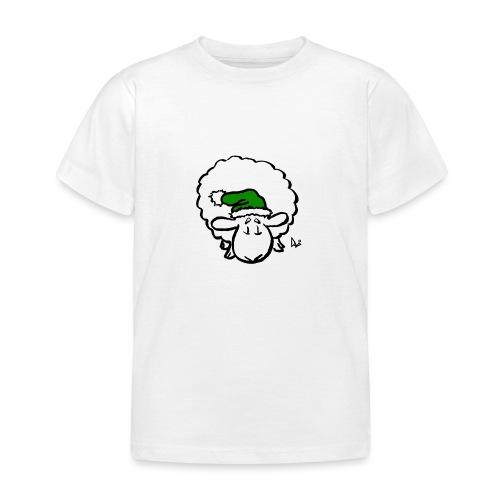 Weihnachtsschaf (grün) - Kinder T-Shirt