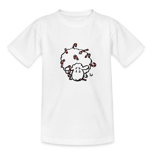Candy Cane Sheep - Kids' T-Shirt