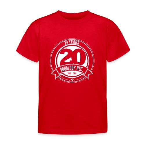 20 Years Aqualoop Records (white) - Kids' T-Shirt