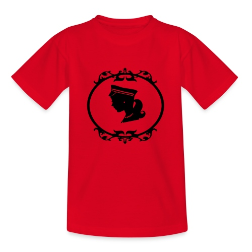 Mädel oval 1 farbig - Kinder T-Shirt