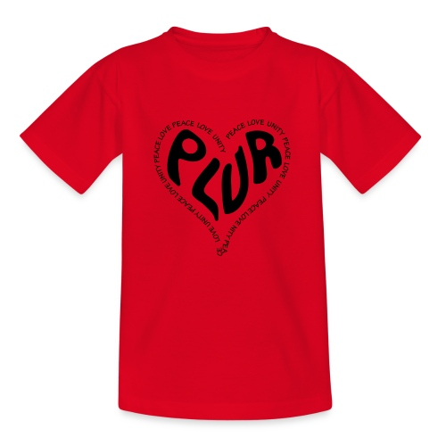 PLUR Peace Love Unity & Respect ravers mantra in a - Kids' T-Shirt