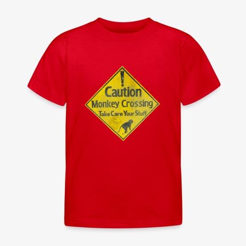 Caution Monkey Crossing - Kinder T-Shirt