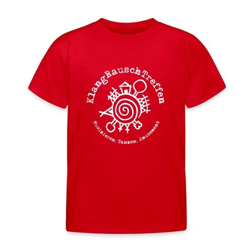 KlangRauschTreffen Logo mit Schrift rund - Kinder T-Shirt