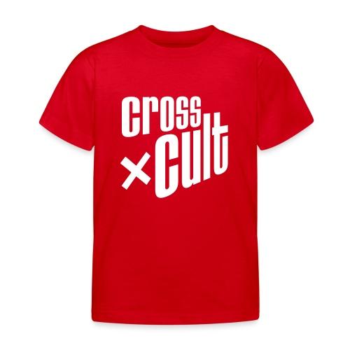 Cross Cult Logo Weiß - Kinder T-Shirt