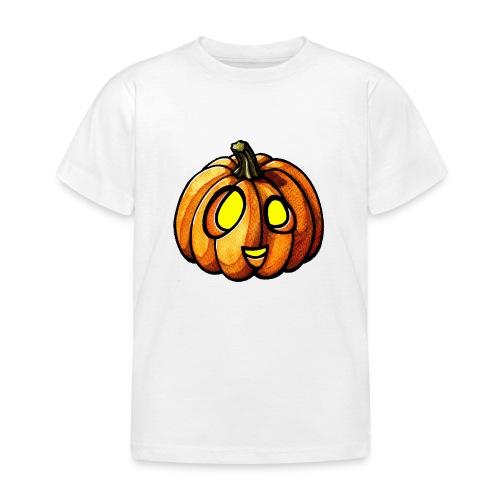 Pumpkin Halloween watercolor scribblesirii - Børne-T-shirt