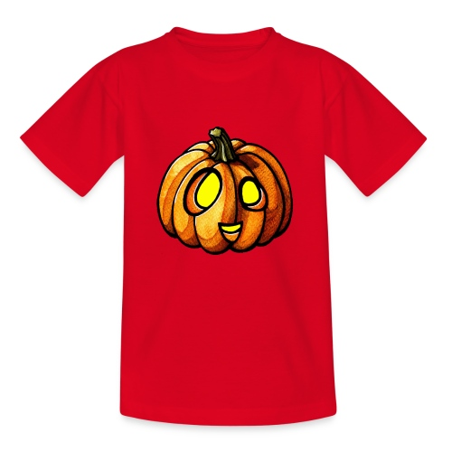 Pumpkin Halloween watercolor scribblesirii - Kids' T-Shirt