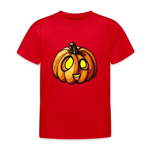 Pumpkin Halloween watercolor scribblesirii - Kinder T-Shirt