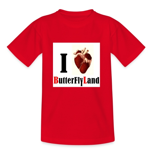 I love Butterflyland - T-shirt Enfant