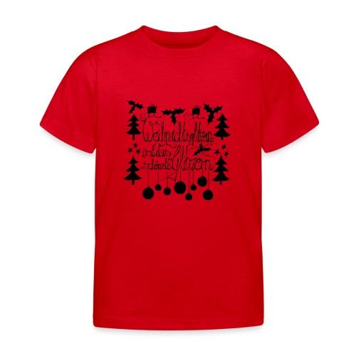 Weihnachtsglitzern - Kinder T-Shirt