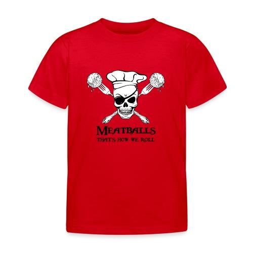 Meatballs - tinte chiare - Maglietta per bambini