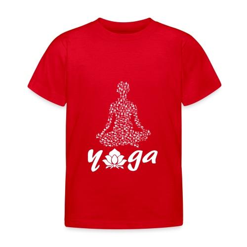 yoga fiore bianco namaste pace amore hippie fitness - Maglietta per bambini