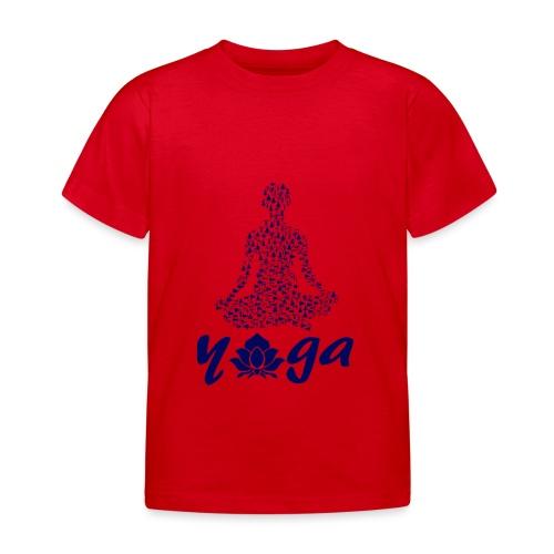 yoga fiore namaste pace amore hippie arte fitness - Maglietta per bambini