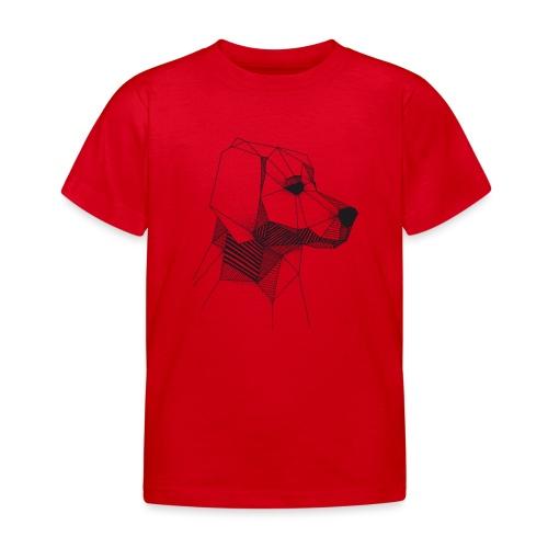 Golden Retriever Geometrisch Zwart - Kinderen T-shirt