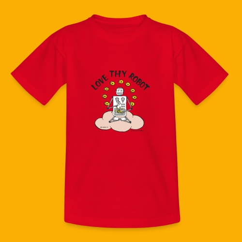 Dat Robot: Love Thy Robot Buddha Light - Kinderen T-shirt