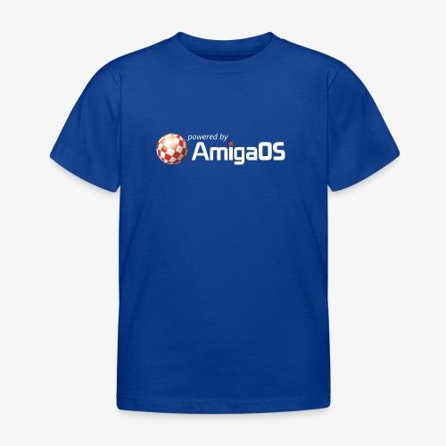 PoweredByAmigaOS white - Kids' T-Shirt