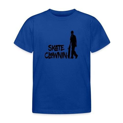 Skateclowninallblackno bg gif - Kids' T-Shirt
