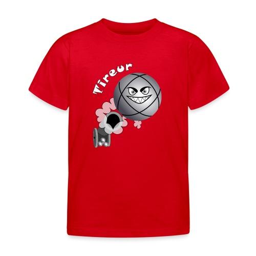 t shirt tireur pétanque boule existe en pointeur B - T-shirt Enfant