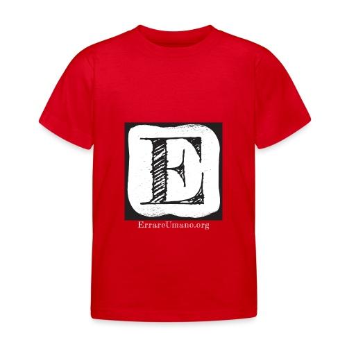 Logo ErrareUmano con scritta bianca - Maglietta per bambini