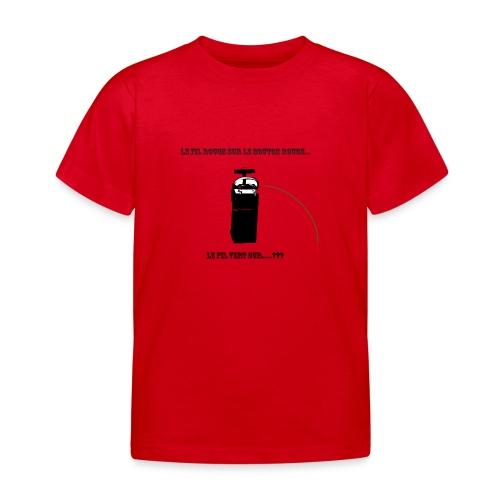 le fil rouge sur le bouton rouge - T-shirt Enfant