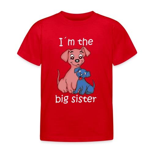 I'm the Big Sister puppy - Kids' T-Shirt