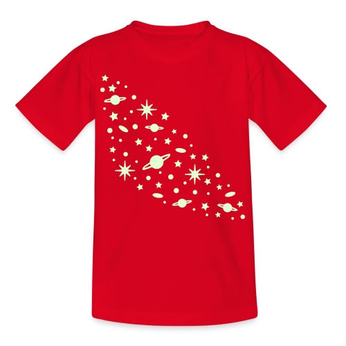 yellowibis galaxy1 vec - Kids' T-Shirt
