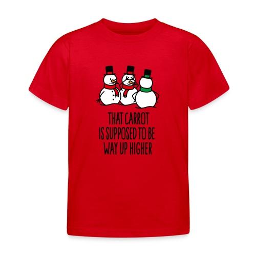 Lustige Weihnachten Geschenk Schneemann Karotte - Kinder T-Shirt