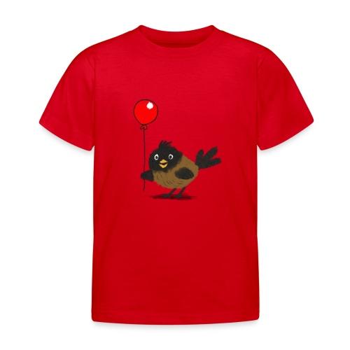 vogeltje met ballon - Kinderen T-shirt
