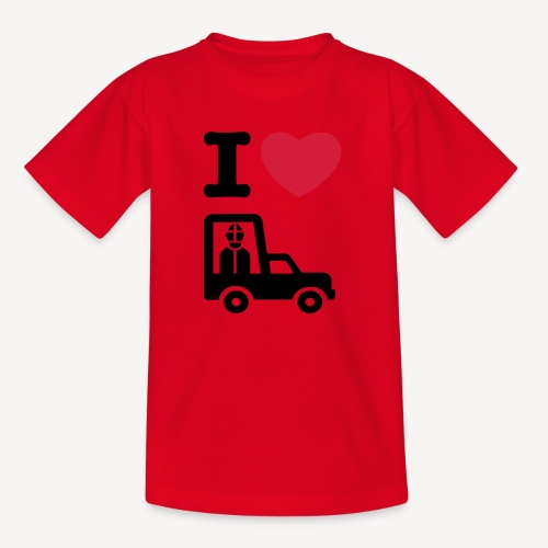 Papst im Auto - Kids' T-Shirt