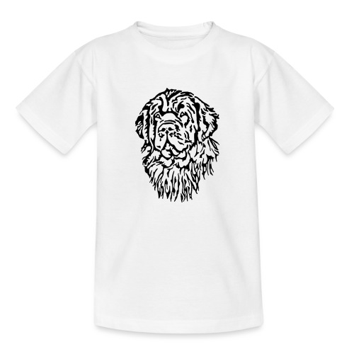 Neufundländer Kopf - Kinder T-Shirt
