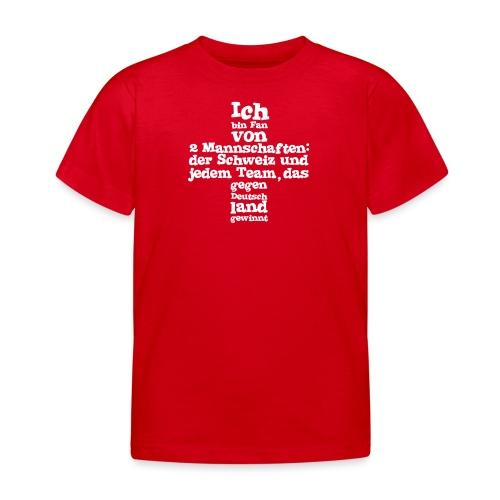 Fan von zwei Mannschaften - Kinder T-Shirt