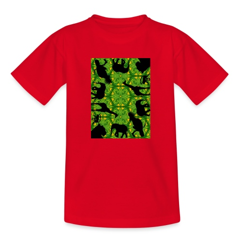 Im Dschungel - Retrolook - Kinder T-Shirt