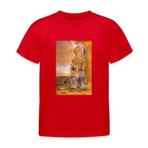 gatto_con_gli_stivalI - Maglietta per bambini