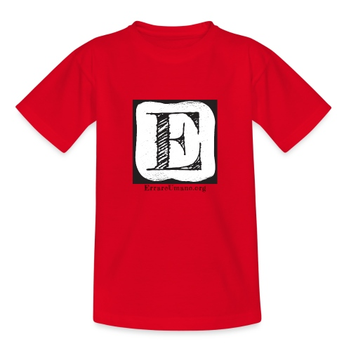 Logo ErrareUmano (scritta nera) - Maglietta per bambini