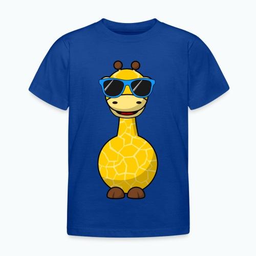 Gigi Giraffe with sunglasses - Appelsin - T-shirt barn