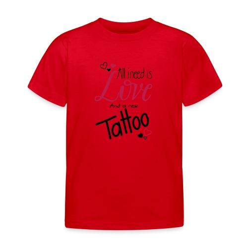 all i need is (schwarz) - Kinder T-Shirt