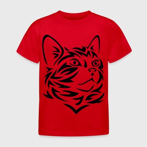Chat Tribal Tattoo - T-shirt Enfant